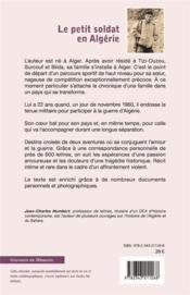 Le petit soldat en Algérie - 4ème de couverture - Format classique