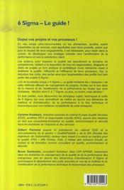 6 sigma. le guide ! - 4ème de couverture - Format classique