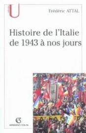 Histoire de l'Italie de 1943 à nos jours - Couverture - Format classique