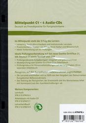 Mittelpunkt C1 ; 3 cd - 4ème de couverture - Format classique