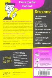 L / Es / S ; Le Bac Francais Pour Les Nuls (edition 2006 - 4ème de couverture - Format classique