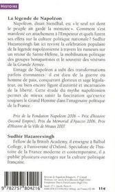 La légende de Napoléon - 4ème de couverture - Format classique