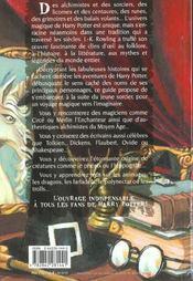 Les mondes magiques de harry potter - 4ème de couverture - Format classique