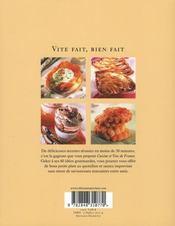 Vite fait, bien fait ; 60 recettes express et gourmandes - 4ème de couverture - Format classique