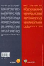 Petita Istoria Europea D'Occitania - 4ème de couverture - Format classique