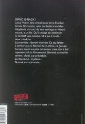 Avec une poignee de sable : spinoza encule hegel 3 - 4ème de couverture - Format classique