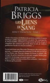 Mercy Thompson T.2 ; les liens du sang - 4ème de couverture - Format classique