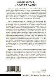 Image, mythe, logos et raison - 4ème de couverture - Format classique