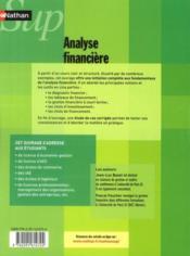 NATHAN SUP ; analyse financière (édition 2010) - 4ème de couverture - Format classique