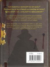 Le livre des vampires ; le guide essentiel pour tout savoir sur les vampires et, surtout, comment les éviter - 4ème de couverture - Format classique