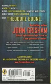 Theodore Boone: Book 1 - 4ème de couverture - Format classique