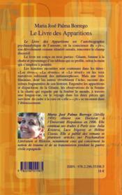 Le livre des apparitions - 4ème de couverture - Format classique