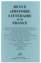 Revue D'Histoire Litteraire De La France N.2011/4 - Couverture - Format classique