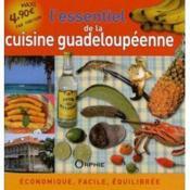 L'essentiel de la cuisine guadeloupéenne - Couverture - Format classique