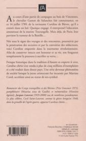 Caroline chérie t.1 ; 1789-1794 - 4ème de couverture - Format classique