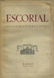 Escorial, Revista De Cultura Y Letras, N° 8, Junio 1941 - Couverture - Format classique