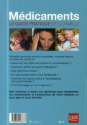 Médicaments ; le guide pratique de la famille (édition 2015) - 4ème de couverture - Format classique