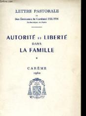 Autorite Et Liberte Dans La Famille - Couverture - Format classique