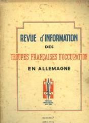 Revue D'Information Des Troupes Francaises D'Occupation En Allemagne - Numero 7 - Couverture - Format classique