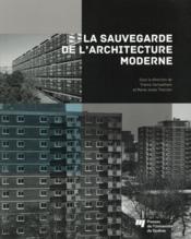 Sauvegarde de l'architecture moderne - Couverture - Format classique