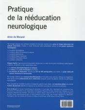 Pratique de la réeducation neurologique - 4ème de couverture - Format classique