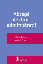Abrégé de droit administratif - Couverture - Format classique