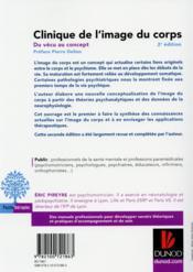 Clinique de l'image du corps ; de la pratique aux concepts (2e édition) - 4ème de couverture - Format classique
