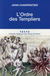 L'ordre des Templiers - Couverture - Format classique