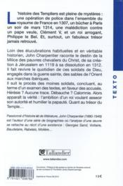 L'ordre des Templiers - 4ème de couverture - Format classique