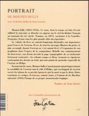 Le portrait de Mounet-Sully - 4ème de couverture - Format classique