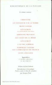 Oeuvres completes - 4ème de couverture - Format classique
