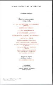 Oeuvres romanesques t.2 - 4ème de couverture - Format classique