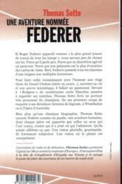 Une aventure nommée Federer - 4ème de couverture - Format classique