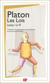 Les lois t.1 ; livre I à VI - Couverture - Format classique