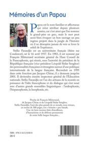 Mémoires d'un Papou ; anecdotes et cocasseries - 4ème de couverture - Format classique