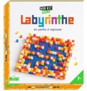 Labyrinthe en perles à repasser - Couverture - Format classique