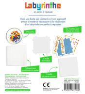 Labyrinthe en perles à repasser - 4ème de couverture - Format classique