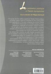 La puisssance publique à l'heure européenne - 4ème de couverture - Format classique