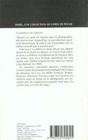 A l'imparfait de l'objectif bab n.174 - 4ème de couverture - Format classique