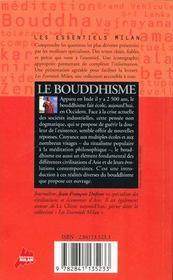 Bouddhisme (Le) - 4ème de couverture - Format classique
