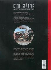 Ce qui est à nous ; deuxième époque t.4 ; aux matelas - 4ème de couverture - Format classique