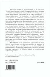 Identites et cultures dans le monde mediterraneen antique - 4ème de couverture - Format classique