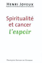 Spiritualite et cancer - Couverture - Format classique
