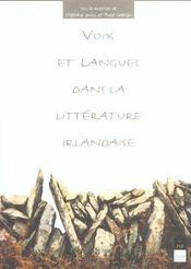 Voix et langues dans la litterature irlandaise - Intérieur - Format classique