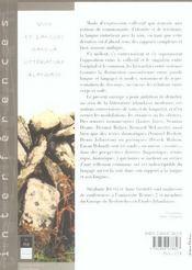 Voix et langues dans la litterature irlandaise - 4ème de couverture - Format classique