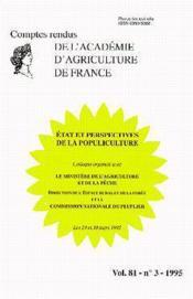 Etat et perspectives de la populiculture (compte-rendu vol.81, no 3, 1995) - Couverture - Format classique