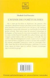 L'avenir des forets suisses - 4ème de couverture - Format classique