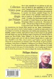 De Gaulle A Londres - 4ème de couverture - Format classique