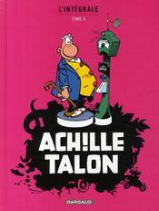 Achille Talon ; INTEGRALE VOL.4 - Couverture - Format classique