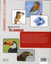 Dessiner et peindre les oiseaux - 4ème de couverture - Format classique